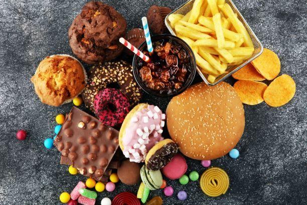 junk food pile